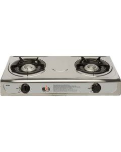 ALVA GCS04 2 BURNER GAS STOVE STAINLESS STEEL