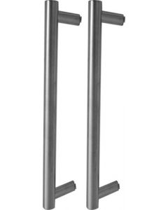 QS HANDLE PULL SET SS MITRED T-HANDLE 400X25MM