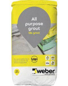 Weber Tylon All Purpose Tile Grout 20kg