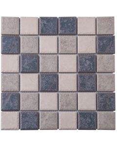 FALCON P3-FT3114 RUSTIC PORCELAIN MOSAIC TILE - GREY MIX 48MM