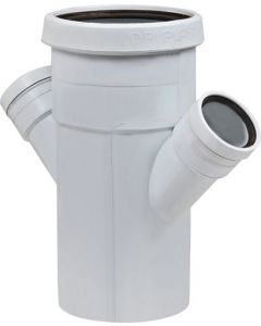 MARLEY PIPES SW400 PVC 135º PLAIN DOUBLE JUNCTION 110MMX50X50