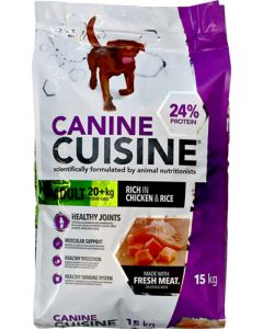 CANINE CUISINE ADULT CHICKEN AND RICE DOG FOOD 15KG