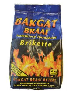BAKGAT-BRIQUET CHARCOAL 4KG BAG