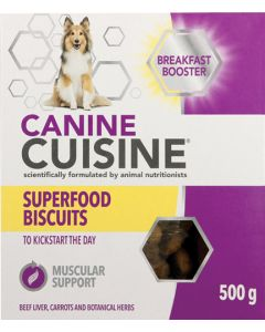 CANINE CUISINE DOG BISCUITS BREAKFAST BOOSTER 500G