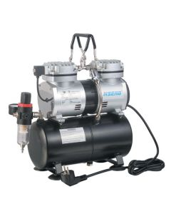 AIRCRAFT SG COMP07 COMPRESSOR FOR AIRBRUSH 2CYL WITH TANK