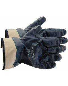 GLOVE NITRILE SAFETY BLUE