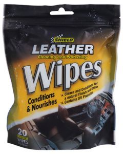 SHIELD SHI0905 LEATHER CARE WIPES