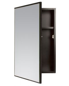 WILDBERRY ABS6020 MAHOGANY SINGLE DOOR MIRROR CABINET
