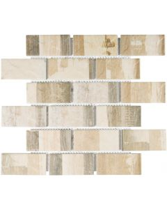 FALCON P3-FT9501 MOSAIC TILE NATURAL LATTE MIX 45MM