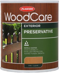 PLASCON WOODCARE WOOD PRESERVATIVE CLEAR 1L