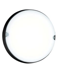 BRIGHT STAR BH139 LED 18W ROUND BULKHEAD FITTING BLACK