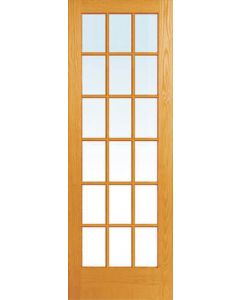 18 PANEL GLASS ENGINEERED HARDWOOD PATIO DOOR PAIR 1612x2032