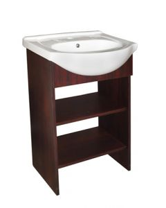 APERTO MAHOGANY SHELF VANITY & BASIN BATHROOM CABINET