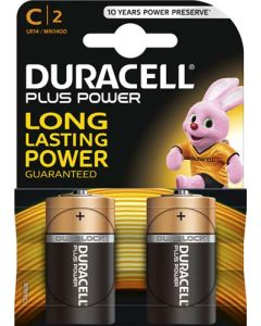 DURACELL DUR002 C BATTERY PACK OF 2