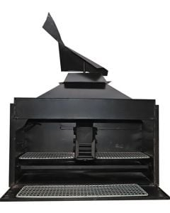 AVALON BIB1000 BUILT-IN BRAAI 1000MM PAN/GRID/EMBER/HOOK/LIGHT/BASE/COWL