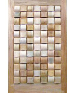 BASKET WEAVE SMALL ROUND BLOCKS PIVOT 1200 DOOR