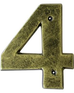 ALESSA ANTIQUE GOLD NUMERAL 4 (200MM)