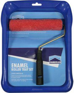 CHAMBERLAIN ENAMEL ROLLER TRAY SET
