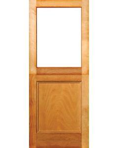 HALF GLASS 1 PANEL ENGINEERED HARDWOOD STABLE DOOR 813x2032