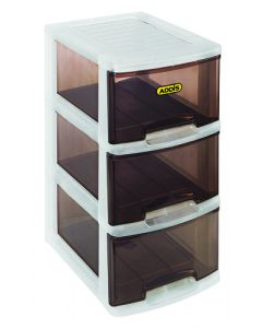 ADDIS 7760STN BOX STORAGE 3DRAWER SLIMLINE SMOKEY TINT