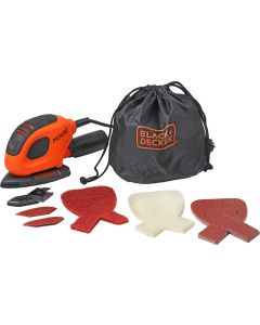 BLACK&DECKER BEW230BCA 55W MOUSE SANDER WITH 10 ACCESSORIES IN SOFT BAG
