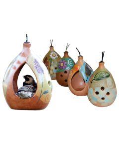 ELAINE'S EBW041 BARBET TERRACOTTA BIRD FEEDER