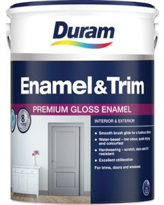 DURAM 132-10-005 ENAMEL AND TRIM WHITE 5L