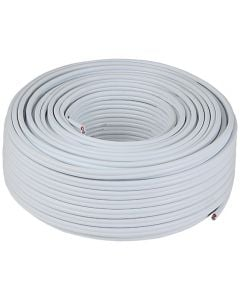 APEX WHITE FLAT TWIN&EARTH CABLE 2.5MMX50M