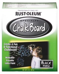 RUST-OLEUM 206540 CHALKBOARD BRUSH ON BLACK 1L