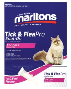MARLTONS TICK & FLEAPRO SPOT-ON CATS 0.5ML