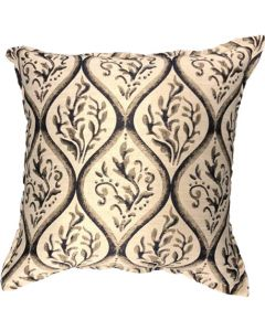 GREY GARDENS NAVY DAMASK SCATTER CUSHION