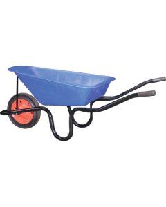 Blue Polypan Concrete Wheelbarrow 65L