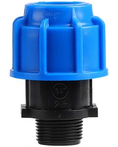 MARLEY #511.25C HDPE COMPRESSION MALE ADAPTOR 25MMX3/4 IN
