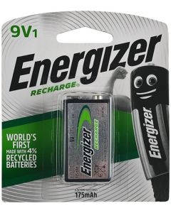ENERGIZER 9V RECHARGEABLE 175mAh  BATTERY