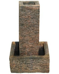 SMALL BROWN SLATE TOWER WATER FEATURE