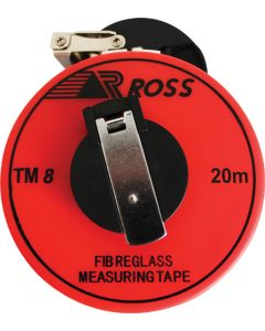 ROSS F7714 TM8 FIBREGLASS MEASURING TAPE 20m