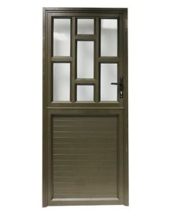 IBUILD SSDD9 TOP STAGGERED WITH SOLID BOTTOM 900X2100 ALUMINIUM STABLE DOOR