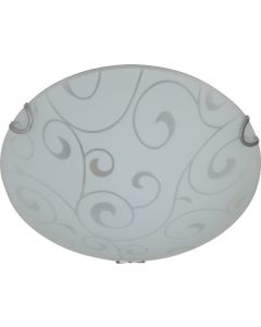 BRIGHT STAR CF3507 PATTERN GLASS CEILING LIGHT 250MM