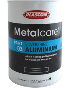 PLASCON METALCARE SILVERSHINE ALUMINIUM PAINT 5L