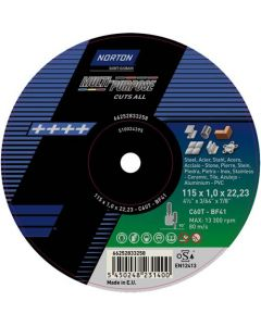 NORTON MULTI PURPOSE CUTTING DISC 115MM
