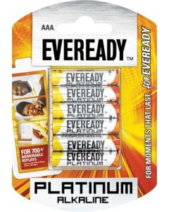 EVEREADY PLATINUM ALKALINE+AAA BATTERY 6 PACK