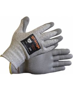GLOVE ANTI CUT GREY PU COATED LARGE