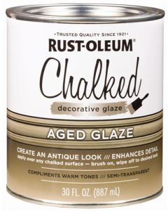 RUST-OLEUM 315881 DECORATIVE GLAZE AGED GLAZE CHALKED PAINT