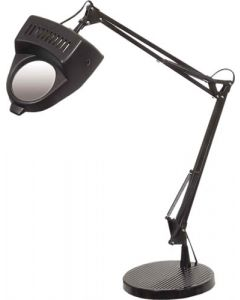 BRIGHTSTAR TL813 METAL AND PLASTIC DESK LAMP WITH 3X MAGNIFIER AND CLAMP