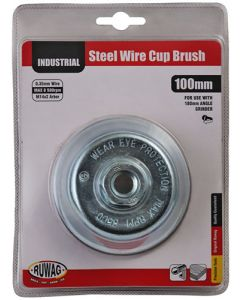 Ruwag RCBC10014 Mounted Wire Cup Brush - 100 mmx M14