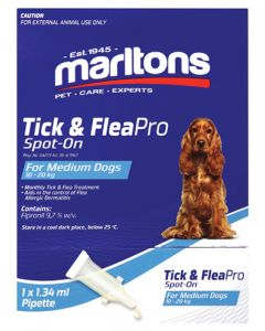 MARLTONS TICK & FLEAPRO SPOT-ON MEDIUM DOGS 1.34ML