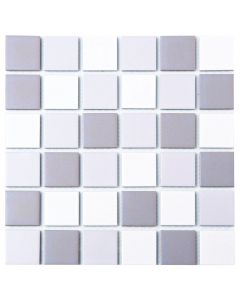 FALCON P3-FT2296M GLAZED MOSAIC TILE MATT GREY 48MM
