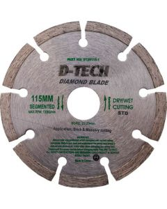 D-TECH SEGMENTED DIAMOND CUTTING WHEEL 115M