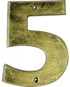 ALESSA ANTIQUE GOLD NUMERAL 5 (200MM)