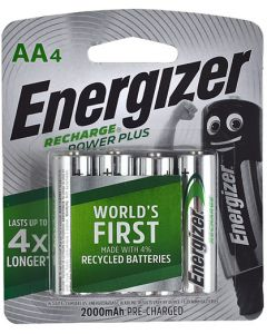 ENERGIZER RECHARGE POWER PLUS 2000Mah Aa 4 PACK